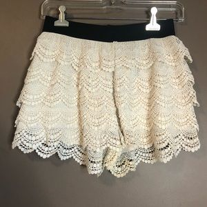 3 for $20! Candies tiered lace shorts